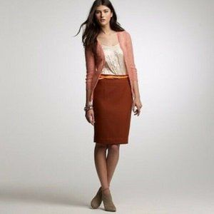 J Crew Perfect Pencil Skirt in Cinnamon Stick